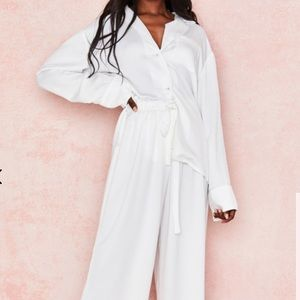 """House of CB """"dion"""" satin co-ord - size S -"""